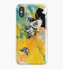 Long Gone Whisper (graffiti portrait, butterfly girl) iPhone Case