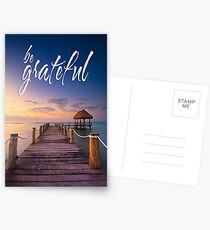 be grateful - Give Back To Nature Postcards