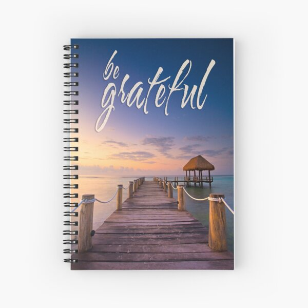 be grateful - Give Back To Nature Spiral Notebook