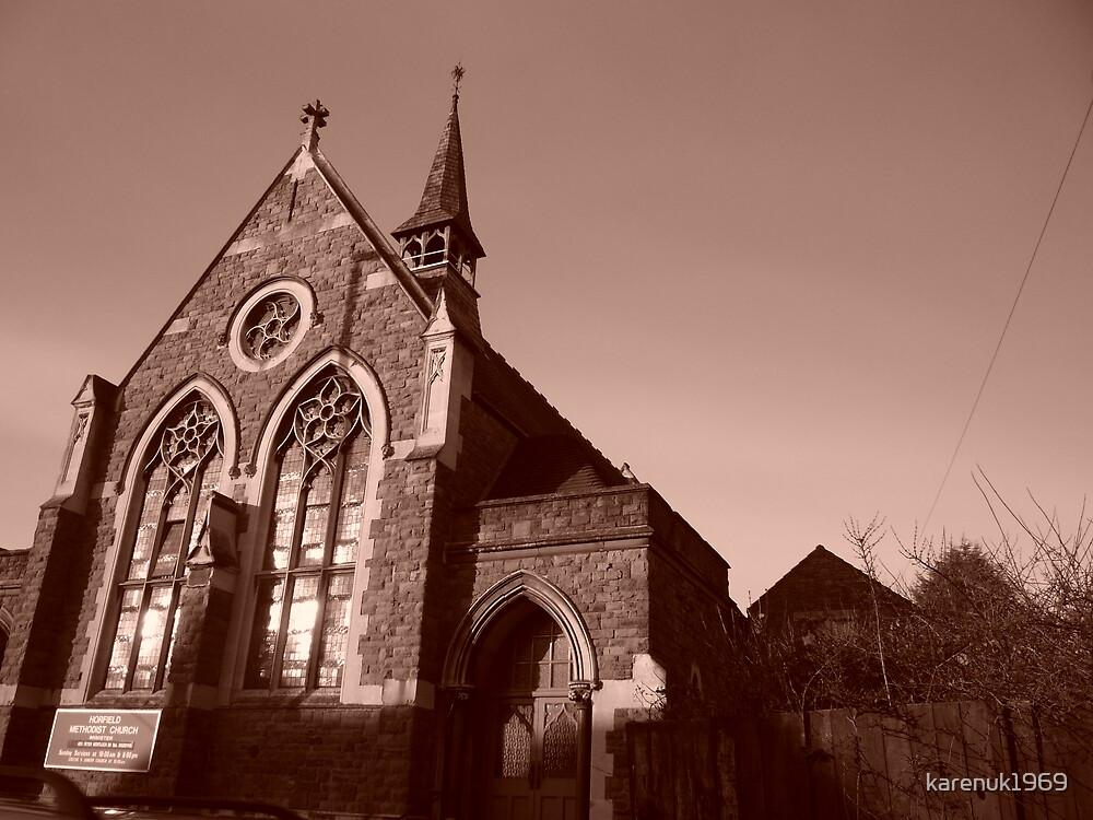 Sepia Church by karenuk1969