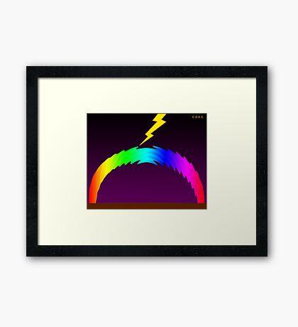 C O R E (Colours Of Rainbow Electrocuted) Framed Print