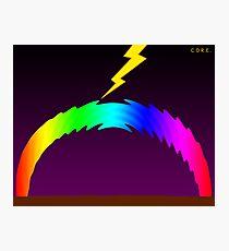 C O R E (Colours Of Rainbow Electrocuted) Photographic Print