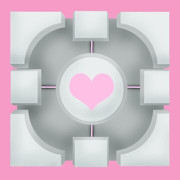 Weighted Companion Cube (Portal 2) by Camkitty