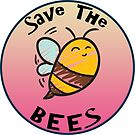 SAVE THE BEES HONEY FLOWERS NATURE FOOD HEALTH OUTDOORS ENDANGERED by MyHandmadeSigns