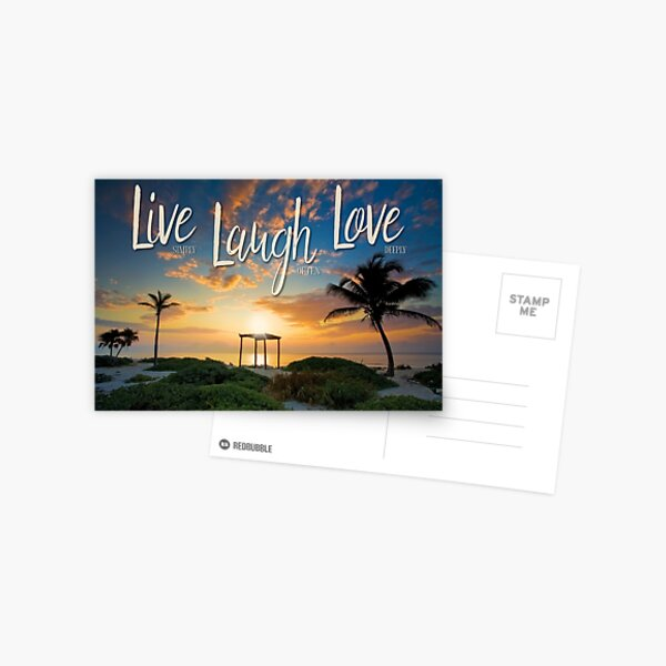 Live Laugh Love - Give Back to Nature Postcard