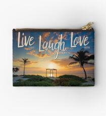 Live Laugh Love - Give Back to Nature Studio Pouch