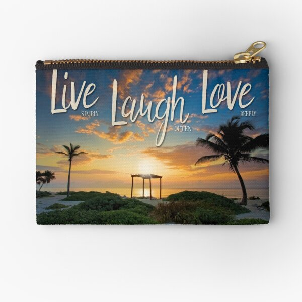 Live Laugh Love - Give Back to Nature Zipper Pouch