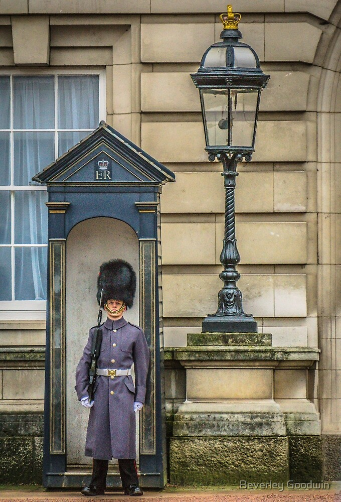 Keeping guard at Buckingham Palace by Beverley Goodwin