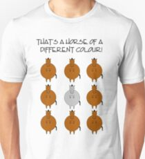 Horse of a different color. Unisex T-Shirt