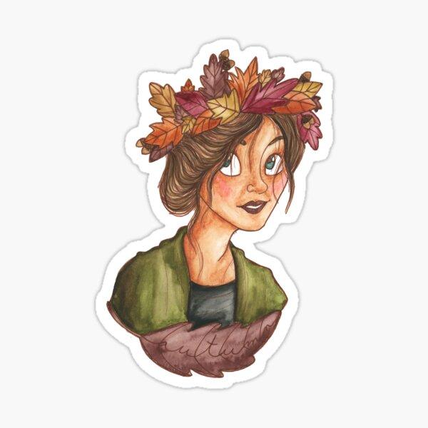 Fall Crown Sticker