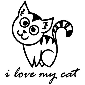 i love my cat  by med-artiste