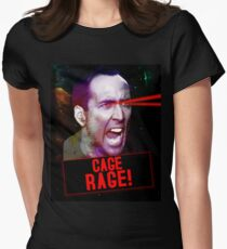 Nicolas Cage Rage! Womens Fitted T-Shirt
