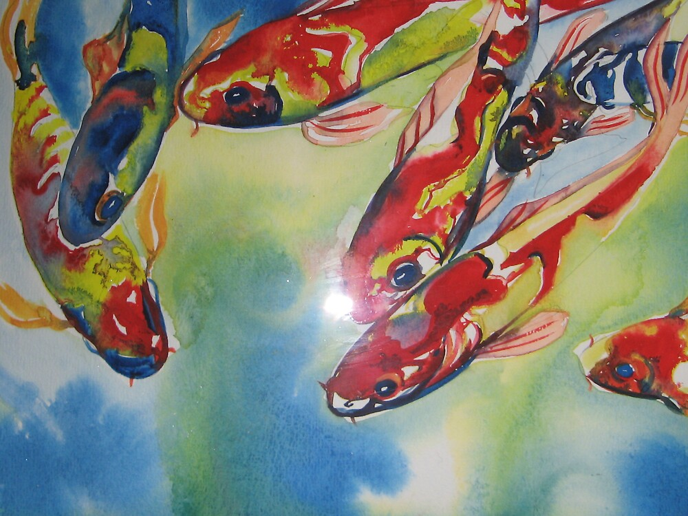 Koi Carp watercolour by coolart