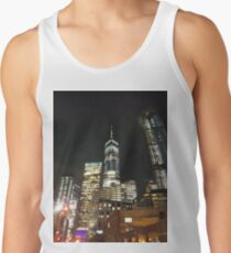 Street, City, Buildings, Photo, Day, Trees, New York, Manhattan Tank Top