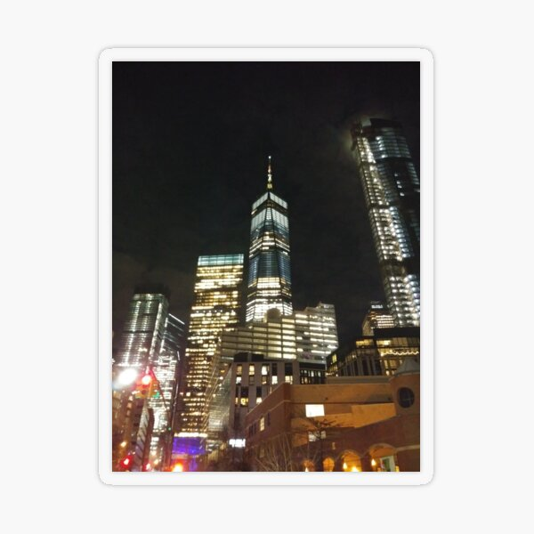 Street, City, Buildings, Photo, Day, Trees, New York, Manhattan Transparent Sticker