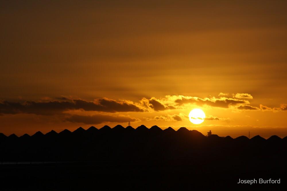 Sunset over salt by Joseph Burford