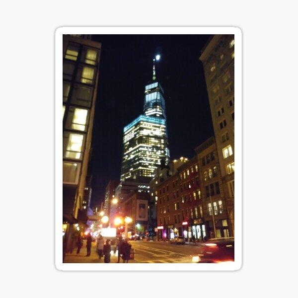Street, City, Buildings, Photo, Day, Trees, New York, Manhattan Sticker