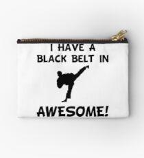 Black Belt Awesome Studio Pouch