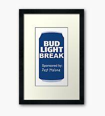 bud light break Framed Print