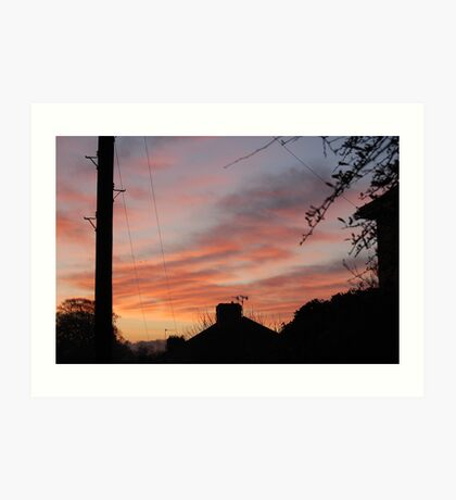 red sky in the morning Art Print