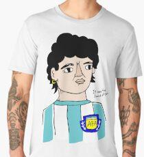 Diego Armando Maradona Mano de Dios Camiseta premium para hombre
