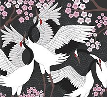 Japanese Cranes by Judit Gueth