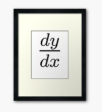 Derivative Calculus Framed Print