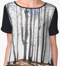 The colour of Winter is in the imagination Chiffon Top