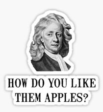 Sir Isaac Newton Apple Sticker
