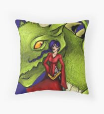 Dealing with fantasy Throw Pillow