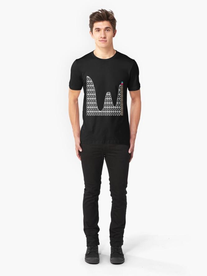 Alternate view of PRN roller coaster Slim Fit T-Shirt