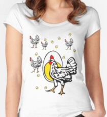 Chicken and Eggs Women's Fitted Scoop T-Shirt