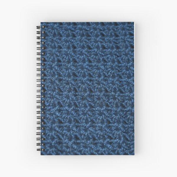 Blue Cotton Star Stitch Spiral Notebook