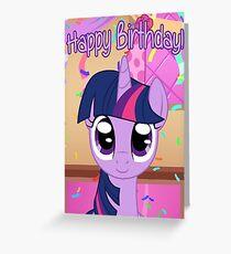 Twilight Sparkle-Geburtstags-Karte - Postkarte mein kleines Pony Grußkarte