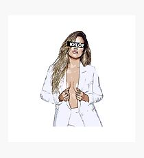 Khloe Kardashian Cartoon Photographic Print