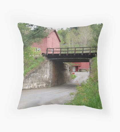 The Red Mailbox Throw Pillow
