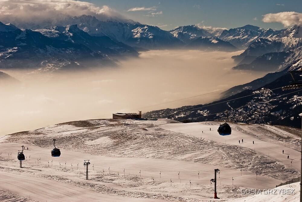on the ski slopes by GOSIA GRZYBEK