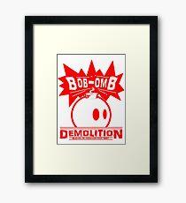 Bob-Omb Demolition red Framed Print