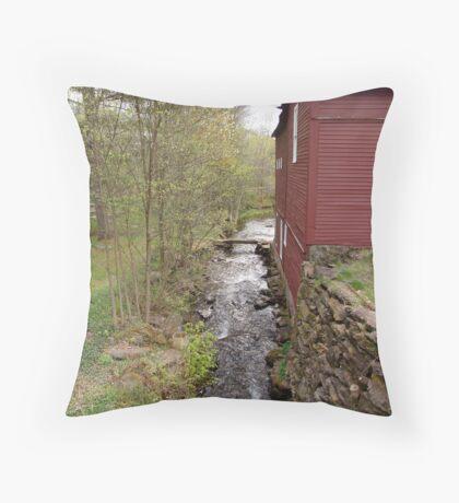 Brookside Barn Throw Pillow