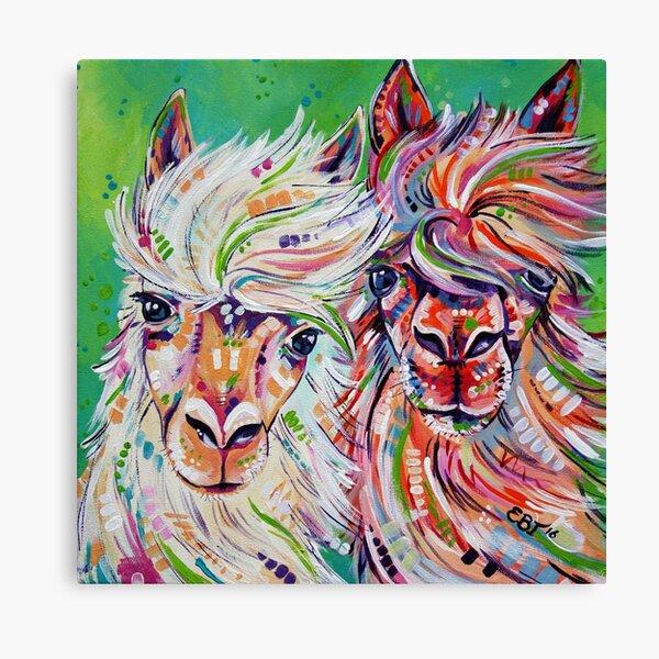 """Hello"" - Alpaca/Llama painting Canvas Print"