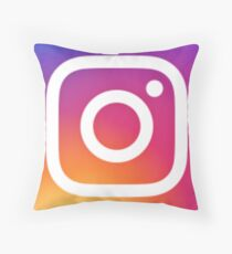 Instagram (Logo) Throw Pillow