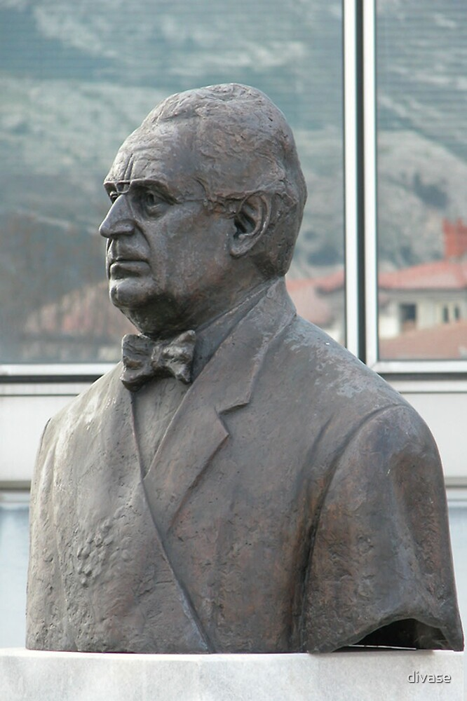 The bust of first presidente of Croatia (public space) by divase