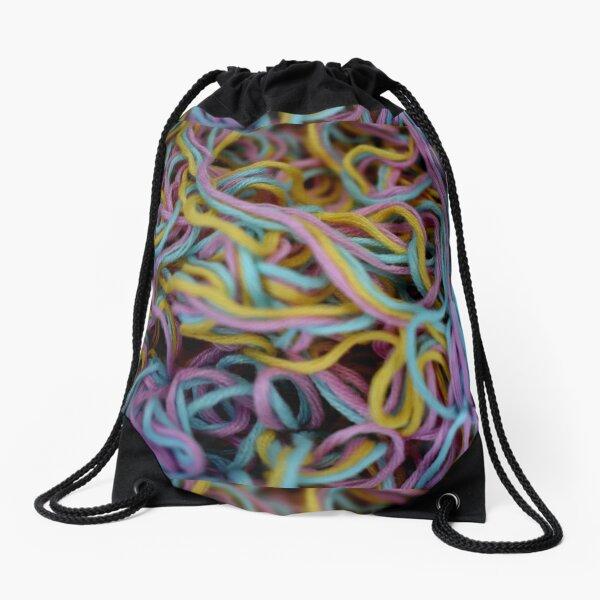 Pastel Tangles Drawstring Bag