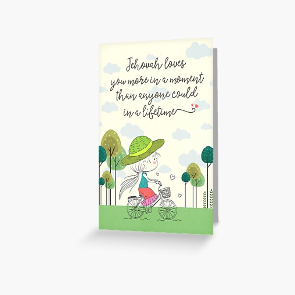 Jehovah Loves You Greeting Card