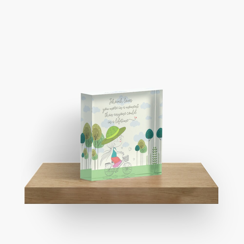 Jehovah Loves You Acrylic Block