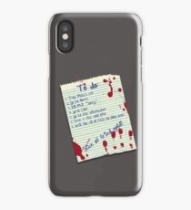 The List iPhone Case/Skin