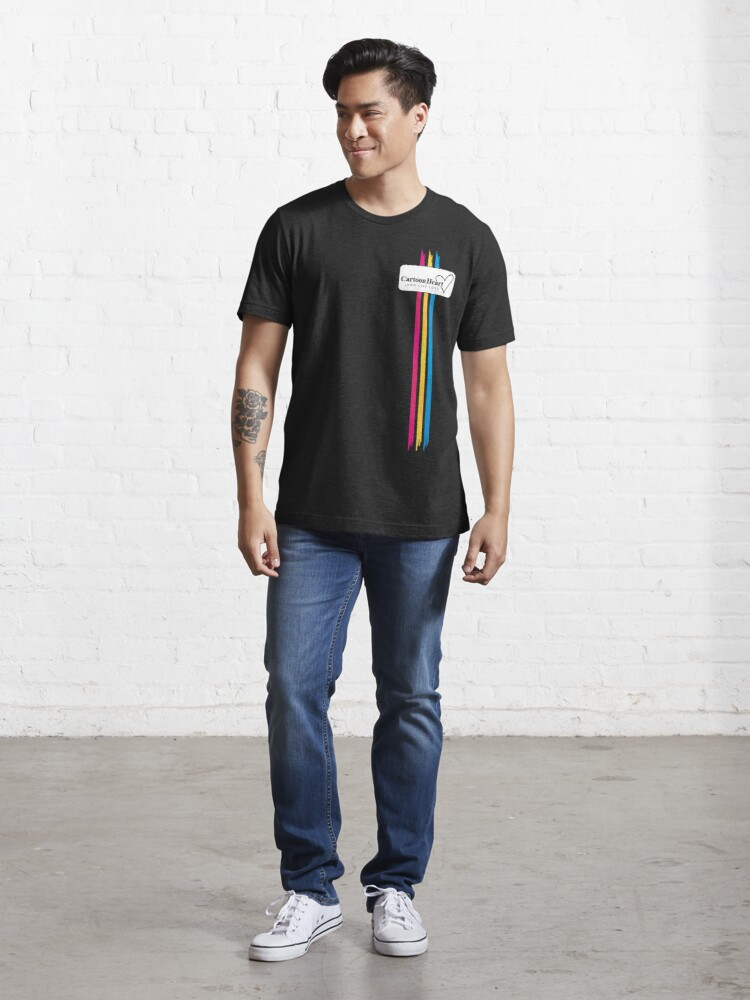 Alternate view of Cartoon Heart Paint Shirt - Classic T-Shirts & More (Dark) Essential T-Shirt