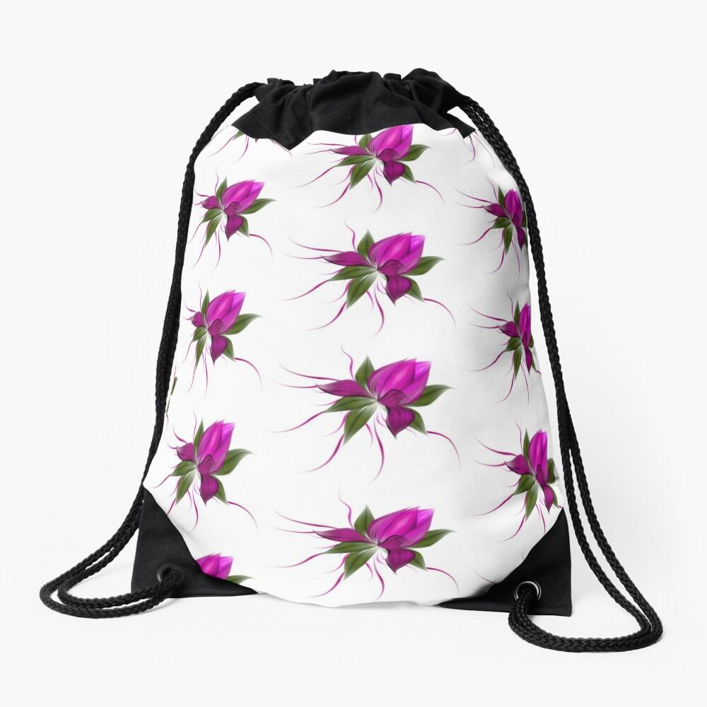 Pink Bloom Drawstring Bag