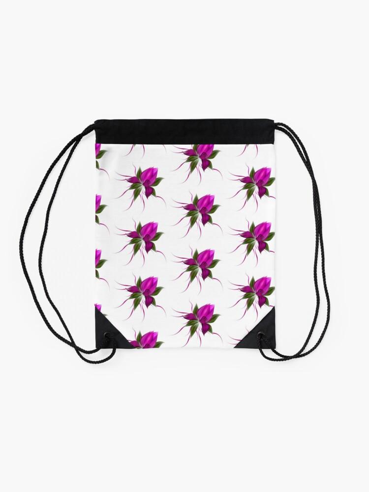 Alternate view of Pink Bloom Drawstring Bag