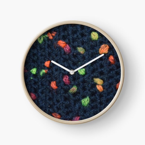 Neon Color Pops and Navy Simple Stitch Clock